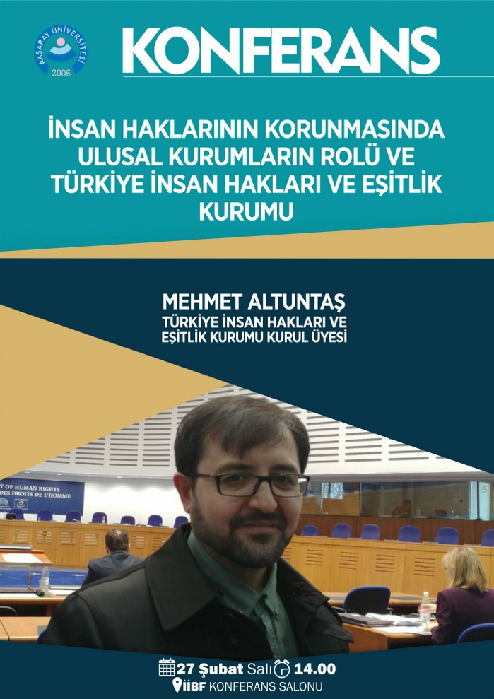 İnsan Haklarının Korunmasında  Ulusal Kurumların Rolü ve  Türkiye İnsan Hakları ve Eşitlik  Kurumu